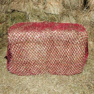 """Handy Hay Nets Bale Bag 1"""" Holes - Hardware Included"""