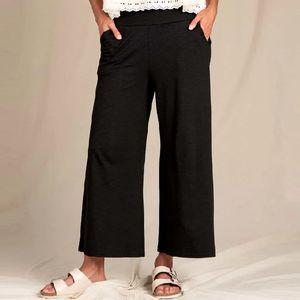Toad & Co Women's Chaka Wide Leg Pull-on Pants - Black
