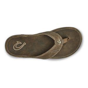 Olukai Men's 'Nui Leather Beach Sandal - Clay/Clay