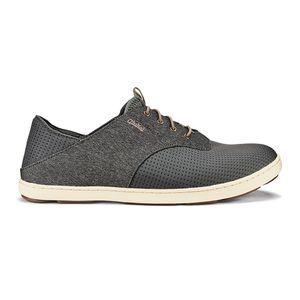 Olukai Men's Nohea Moku No Tie Boat Shoes - Charcoal/Clay