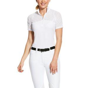 Ariat Women's Airway 1/4 Zip Short Sleeve Show Shirt