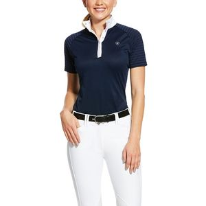 Ariat Women's Aptos Vent Short Sleeve Showshirt-Navy