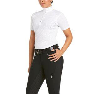 Ariat Women's Showstopper 3.0 Short Sleeve Show Shirt-White