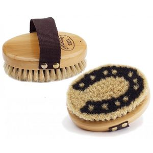 """Equine Essentials Wood Back 5"""" Body Brush with Horse Hair Bristles"""
