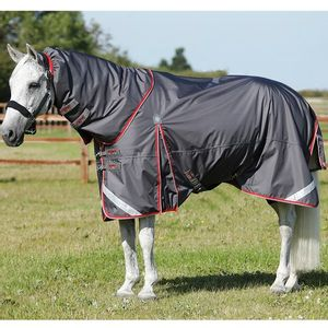 Premier Equine Buster 50 with Neck Cover Rug- Grey