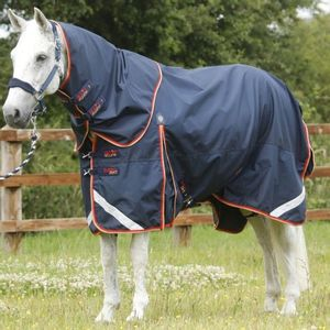 Premier Equine Buster Zero 0g with Neck Cover Rug- Navy
