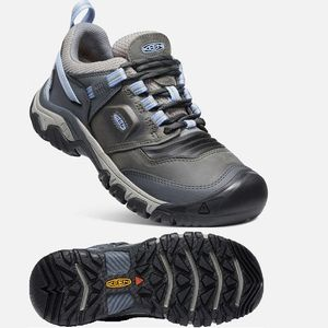 Keen Women's Ridge Flex Waterproof Hiking Shoes  Steel Grey/Hydrangea