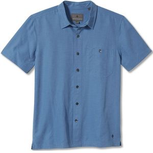 Royal Robbins Men's Mojave Pucker Dry Short Sleeve Shirt Parisian Blue