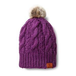 Ariat Cable Beanie- Imp Purple