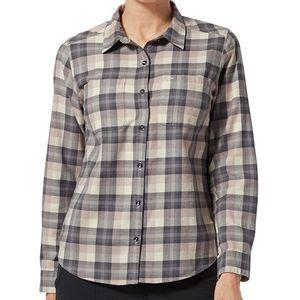 Royal Robbins Women's Lieback Organic Cotton Flannel Shirt Sphinx