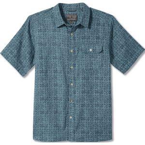 Royal Robbins Men's Cool Mesh Eco Print Short Sleeve Maui Blue