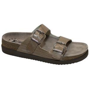 Mephisto Helda Plus Embossed Leather Sandals - Sable/Light Sand Zambie