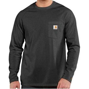Carhartt Force Men's Cotton Long Sleeve  T-shirt - Carbon  Heather