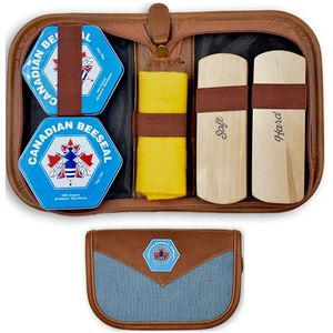 Canadian Beeseal Leather and Wood Conditioner – Shoe Shine Travel Kit with 2 pack 75g/2oz