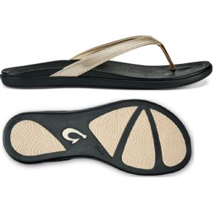 Olukai Women's Ho'Opio Women's Beach Sandals - Bubbly/Black