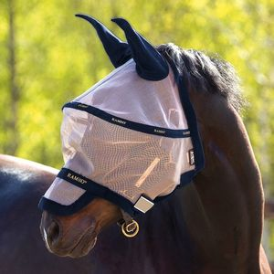 Rambo Plus Fly Mask- Oatmeal/Navy