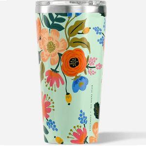 Corkcicle Tumbler 16oz - Lively Floral Mint