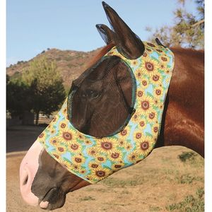 Professionals Choice Comfort fit Fly Mask- Sunflower