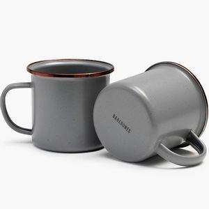 Barebones Enamel Cup Set Of 2 - Slate Grey