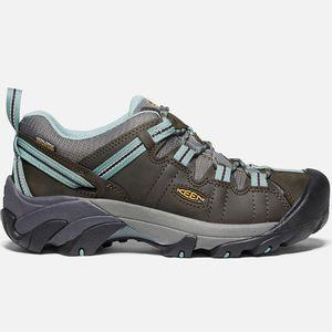 Keen Women's Targhee II Waterproof Hiking Shoe - Black Olive/Mineral Blue