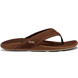 Olukai Men's 'Nui Leather Beach Sandals - Rum