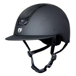 Tipperary Royal Wide Brim Leather Matte & Gloss Black Helmet