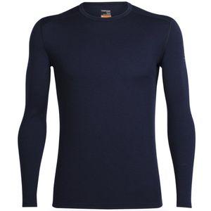 Icebreaker Men's Merino Oasis Long Sleeve Crewe Shirt - Midnight Navy