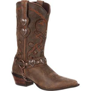 "Durango Women's 11"" Heart Concho With Chain Western Boot"