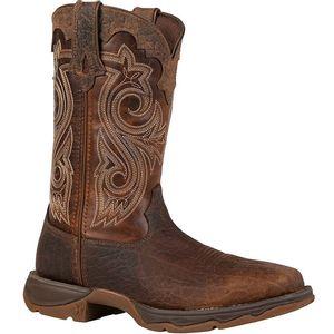 Durango Women's Lady Rebel Work Steel Toe Western Boots - Dark Brown and Sunset Brown