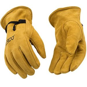 inco Suede Cowhide Driver Gloves with Pull Strap