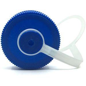 Nalgene Wide Mouth 32oz Replacement Cap with Loop - Dark Blue/Platinum