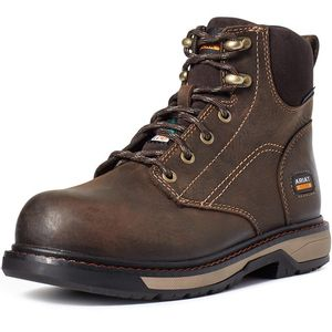 "riat Women's CSA Riveter 6"" Waterproof Composite Toe Work Boot - Dark Brown"
