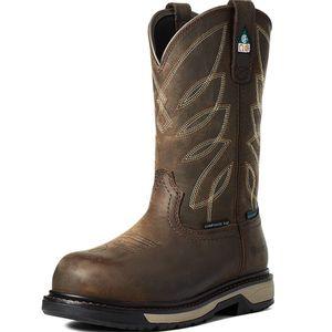 "Ariat Women's CSA Riveter 10"" Waterproof Composite Toe Work Boot - Dark Brown"