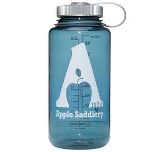Nalgene  32oz Wide Mouth Water Bottle with Apple Saddlery Logo - Cadet/Platinum/White Logo
