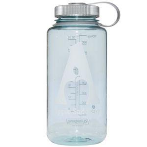 Nalgene  32oz Wide Mouth Water Bottle with Apple Saddlery Logo - Seafoam/Platinum/White Logo