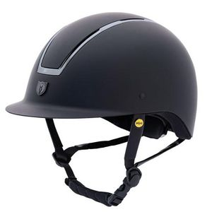 Tipperary Windsor with MIPS Traditional Brim - Matte Black Shell, Smoked Chrome Trim, Matte Black Top