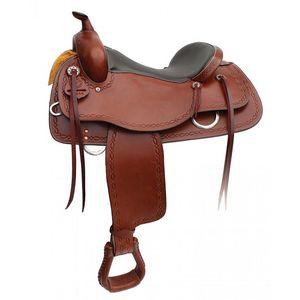 Western Rawhide Signature Cooper Trail Saddle - Brown