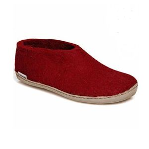 Glerups Unisex Shoe with Leather Sole -  Red