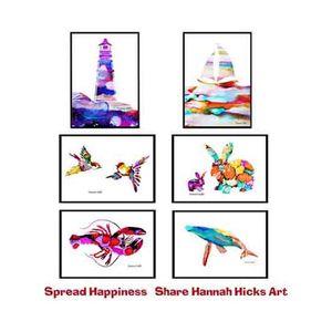 Hannah Hicks Art Cards - 6 Pack Fun Cards