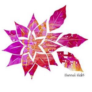 Hannah Hicks Art Cards - Pointsetta