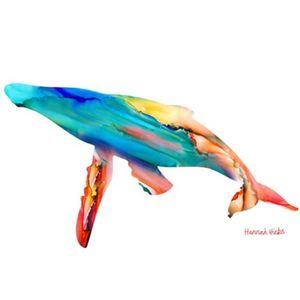 Hannah Hicks Art Cards - Whale