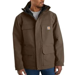 Carhartt Men's Super Dux Relaxed Fit Insulated Traditional Coat - Coffee